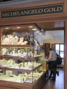 Michelango Gold on the Ponte Vecchio